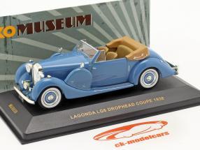 Lagonda LG6 Drophead Coupe Año 1938 azul / azul 1:43 Ixo