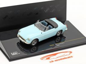 MG B Cabriolet L année 1964 bleu clair1:43 Ixo