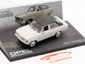 Opel Olympia A Ano de construção 1967-1970 cinza claro / Preto 1:43 Altaya