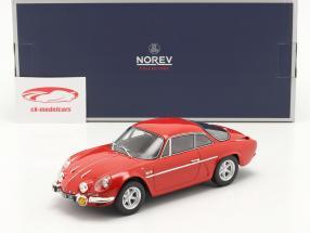 Alpine A110 1600S Année de construction 1969 rouge 1:18 Norev