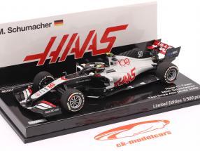 Mick Schumacher Haas VF-20 #50 Abu Dhabi Test formel 1 2020 1:43 Minichamps