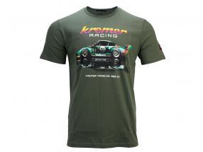T-Shirt Kremer Racing Porsche 935 K2 オリーブグリーン