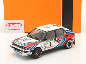 Lancia Delta Integrale 16V #1 gagnant Rallye le Portugal 1990 Biasion, Siviero 1:18 Ixo