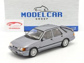 Ford Sierra Cosworth year 1988 grey-blue metallic 1:18 Model Car Group
