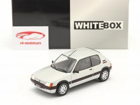 Peugeot 205 1.9 GTI bouwjaar 1988 zilver 1:24 WhiteBox