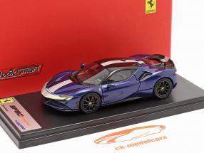 Ferrari SF90 Stradale Baujahr 2019 blau metallic 1:43 LookSmart