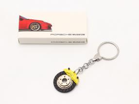 Porsche Llavero Disco del freno amarillo AUTOart