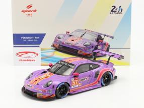 Porsche 911 RSR #57 24h LeMans 2020 Bleekemolen, Fraga, Keating 1:18 Spark
