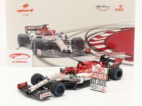 Kimi Räikkönen Alfa Romeo Racing C39 #7 tacchino GP formula 1 2020 1:18 Spark