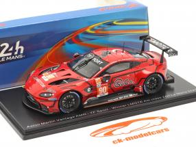 Aston Martin Vantage AMR #90 ganador LMGTE-Am 24h LeMans 2020 TF-Sport 1:43 Spark