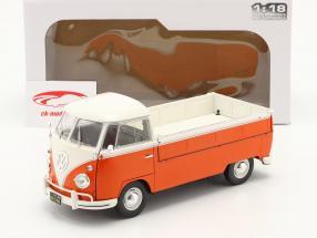 Volkswagen VW T1 Pick-Up 1950 oranje / Wit 1:18 Solido