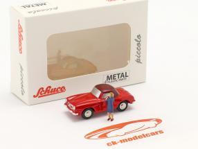 Mercedes-Benz 190 SL (W121 B II) Ano de construção 1955-63 vermelho 1:90 Schuco Piccolo