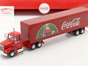 Camion Natale Coca-Cola con Luci a LED rosso 1:43 Motorcity