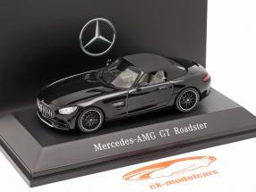 Mercedes-Benz AMG GT Roadster ano de construção 2017 magnetita preto metálico 1:43 Spark