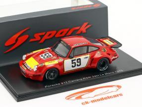 Porsche 911 Carrera RSR #59 24h LeMans 1975 Schenken, Ganley 1:43 Spark