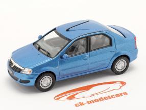 Renault Logan Ano de construção 2005 azul metálico 1:43 Norev