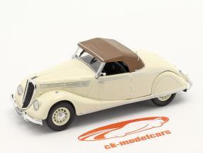 Renault Viva Grand Sport Byggeår 1935-1939 fløde hvid / Brun 1:43 Norev