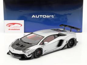 Lamborghini Aventador LB-Works Byggeår 2018 frostet sølv metallisk 1:18 AUTOart