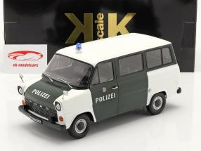 Ford Transit Bus Polizia Stradale Hamburg Anno di costruzione 1965 verde scuro / bianca 1:18 KK-Scale