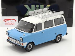 Ford Transit Bus Ano de construção 1965 Azul claro / Branco 1:18 KK-Scale