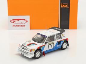 Peugeot 205 T16 E2 #1 Ganador Rallye 1000 Lakes 1986 Salonen, Harjanne 1:24 Ixo
