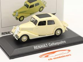 Renault Celtaquatre bouwjaar 1934-1938 Room wit 1:43 Norev