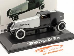 Renault Type NM 40 CV Byggeår 1925-1928 sølv / sort 1:43 Norev