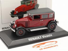 Renault Vivasix Type PG2 Anno di costruzione 1928 rosso / Nero 1:43 Norev