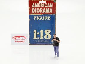 Car Meet serie 1  figur #6  1:18 American Diorama