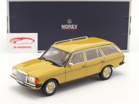 Mercedes-Benz 200 T-model (S123) Byggeår 1982 gul 1:18 Norev