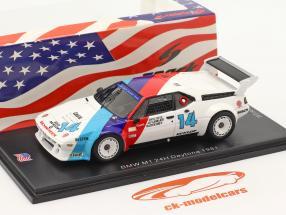 BMW M1 #14 gagnant GTO 24h Daytona 1981 Stuck, Gebhardt, Brun 1:43 Spark