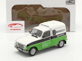 Renault 4 (R4) F4 Agriculture blanche / le noir / vert 1:18 Solido