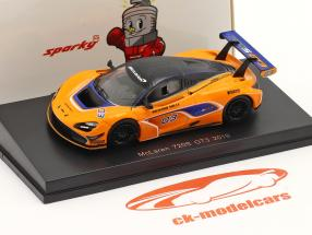 McLaren 720S GT3 2019 #03 arancia / blu 1:64 Spark
