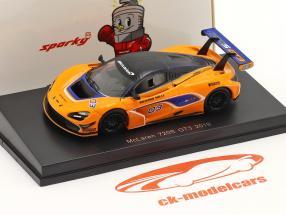McLaren 720S GT3 2019 #03 naranja / azul 1:64 Spark