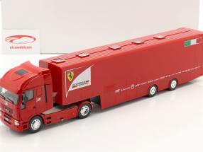 Iveco Stralis Race Bil Transportør Scuderia Ferrari Rød 1:43 Altaya