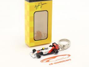 Ayrton Senna Chaveiro McLaren MP4/4 #12 Fórmula 1 Campeão mundial 1988 1:87 Ixo