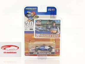 Takuma Sato Honda #30 campione Indy 500 2020 1:64 Greenlight