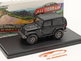 Jeep Wrangler bouwjaar 2016 75ste Jubileum Editie zwart 1:43 Greenlight