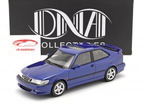 Saab 9-3 Viggen Coupe Año de construcción 2000 azul metálico 1:18 DNA Collectibles