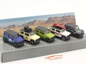 5 voitures ensemble Suzuki Jimny 1:64 Majorette