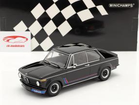 BMW 2002 Turbo Ano de construção 1973 Preto 1:18 Minichamps