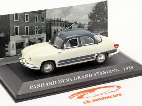 Panhard Dyna Z16 Grand Standing Année 1958 blanc / bleu foncé 1:43 Altaya