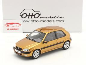 Citroen Saxo VTS Baujahr 2000 heliodor gelb 1:18 OttOmobile