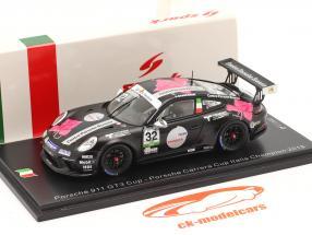 Porsche 911 GT3 Cup #32 kampioen Porsche Carrera Cup Italië 2018 1:43 Spark