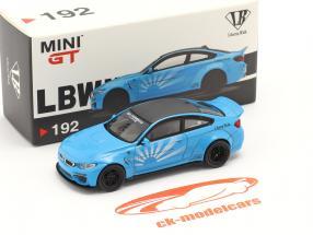 BMW M4 LB Works Année de construction 2020 bébé bleu 1:64 True Scale