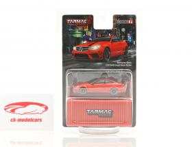 Mercedes-Benz C63 AMG Coupe Black Series rood 1:64 Tarmac Works