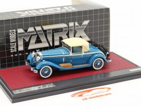 Isotta Fraschini 8A SS Castagna Roadster Closed year 1929 blue 1:43 Matrix