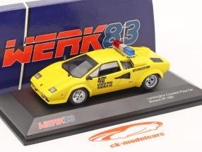 Lamborghini Countach Safety Car Monaco GP formula 1 1982 yellow 1:43 Werk83