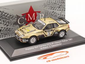 Porsche 924 Carrera GTS #1 Ganador Rallye Hessen 1981 Röhrl, Geistdörfer 1:43 CMR