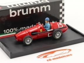 A. Ascari Ferrari 500F2 #15 Campione del Mondo GP Gran Bretagna F1 1952 1:43 Brumm